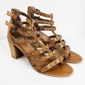Dolce Vita Brown Jerica Studded Sandals Heels 10